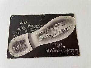 GREAT WHITE FLEET ~ MOSMAN'S BAY, SYDNEY ~ FOOTPRINT OF MEMORY ~ 1908 RPPC