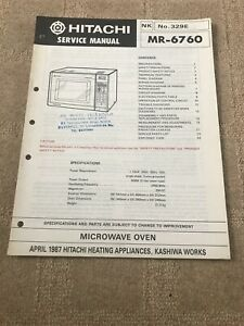 Hitachi MR-6760 service manual For Microwave Oven