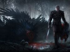 POSTER THE WITCHER 2 3 WILD HUNT WOLF LUPO GERALT OF RIVIA VIDEOGAME FANTASY #19