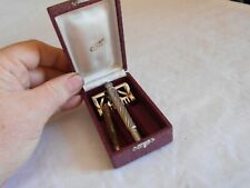 vintage safety razor Gastal french rasoir cheese wedge type very fancy + case