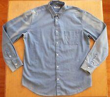 NEW Levi's Made & Crafted Sun Bleach Fade Light Blue Button Slim Shirt 3 L NWT