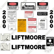 Liftmoore 2000 Decal Kit Crane Arm Replacement Stickers ( 7-Year Vinyl ) 3M
