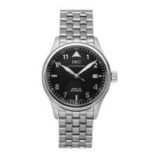 IWC Pilots Spitfire Mark XV Auto 38mm Steel Mens Bracelet Watch Date IW3253-12