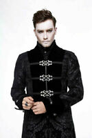 Devil Fashion Men's Steampunk Jacket Black Vintage Gothic Victorian Long Coat