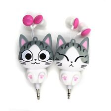Cartoon Cute Anime Cat Headset Headphone Earphone For Girl Use iPhone Samsung