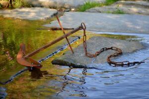 Rostdeko Anker Edelrost Metall Deko Dekoration Garten Gartendeko Geschenk
