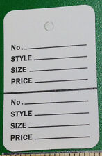 100 Clothing Tags Perforated Unstrung Pricing Label Small Retail Sell Store