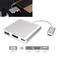 Typ-C auf HDMI 4k USB 3.1 Kabel 3IN1 HD 3.0 HUB USB-C Ladeanschluss Adapter