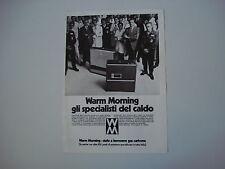 advertising Pubblicità 1971 WARM MORNING