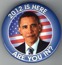 OBAMA pin 2012 is Here #13 Are You in? US American FLAG
