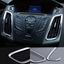Chrome INTERIOR AIR-CONDITION CONTROL PANEL Vent Cover Ford Focus 2012 2013 2014