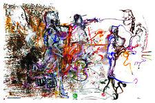"""Conjure"" Original Jazz Print created onstage by Jeff Schlanger"
