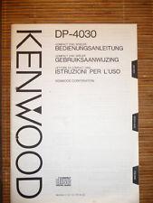 MANUAL DE INSTRUCCIONES / INSTRUCCIONES DE USO para Kenwood dp-4030, original