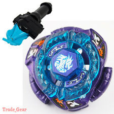 BB128 OMEGA DRAGONIS BEYBLADE Masters Fusion Metal Fight+GRIP+BLUE SPIN LAUNCHER