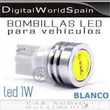 BOMBILLAS LED COCHE T10 1W BLANCO PARA LUZ DE POSICION