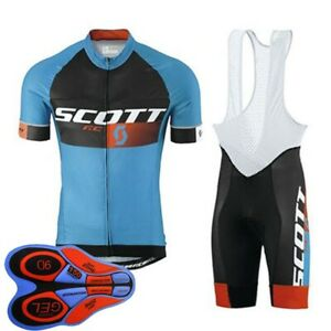 Mens Bike Team Short Sleeve Cycling Clothing Bicycle Jersey Bib Shorts Set