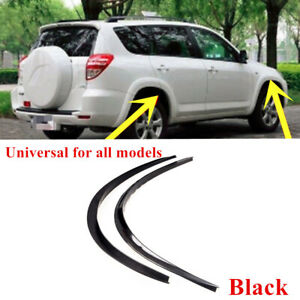 2PCS Car Fender Wheel Eyebrow Protector Strips Carbon Fiber Sticker Accessories