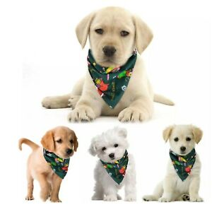 Green Christmas Pet Dog Cat Bandana Santa Large Dog Scarf Adjustable Collar UK