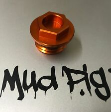 KTM ALLOY OIL FILLER CAP PLUG ANODISED ORANGE EXC EXCF XCW SMC SMCR 690