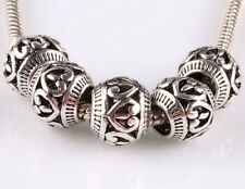 hot 5pcs retro Tibetan silver big hole beads fit Charm European Bracelet #E611