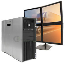 Multi-monitor HP Z800 Computer PC 2.8GHz 8GB 500GB for Dispatching  Logistics