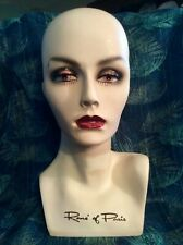 Rene' Of Paris Vintage Mannequin Head Rare Store Display For Wigs Jewelry Hats