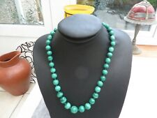 green glass necklace quality graduated Stunning Art Deco beautiful marbled