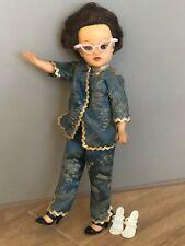 "Vtg Jacket/Top Pants Outfit Set, Glasses+ Shoes for Ideal 10"" Revlon Doll"