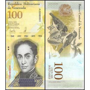Venezuela 100000 Bolivares 2017 Uncirculated World Currency Banknote Money Cash