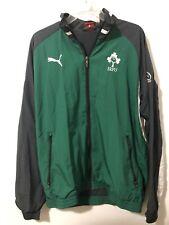 Puma Irish Rugby Football Irfu Green Black Long Sleeve Jacket Mens Sz M