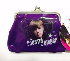 Licensed JUSTIN BIEBER Coin Purse Card Holder Money Cash Case Bag BNWT Celebrity