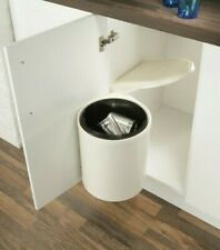 Swing Out Kitchen Waste Bin For Under Sink Units Built in Pull Out White/Cream