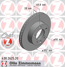 Disco de freno (2 unidades) COAT Z-carpintero 430.2625.20