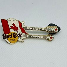 Hard Rock Cafe Double Neck Guitar Pin w/ Canadian Flag #11135