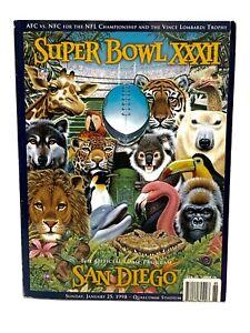 SUPER BOWL XXXII 32 OFFICIAL GAME PROGRAM- Denver Broncos v.s Green Bay Packers