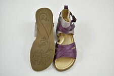 TTY Purple / Silver Double Buckle Sandals Gladiator Zip 36 EU 3 UK 2 35 shoes