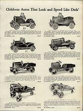 1937 PAPER AD Pedal Car Road King Stutz Racer Peerless Marmon Lone Eagle Plane