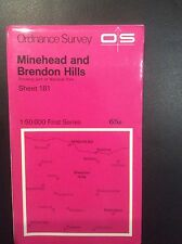 Ordnance Survey Map 181 Mine head And Brendon Hills