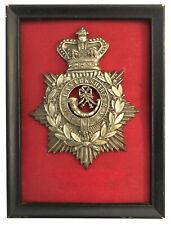 Victorian British Army Helmet Plate 16th Lanarkshire Rifle Volunteers 1881