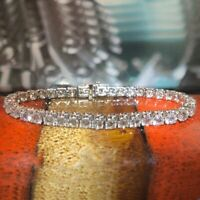 9.80Ct Brilliant Round Cut Diamond Tennis Bracelet 14k White Gold Finish