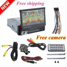 "7"" Single 1 DIN Car GPS MP5 Player Radio Stereo Touch Head Unit Sat NAV + Camera"