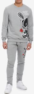 BKYS Black Keys Mens Lucky Charm Track Suit Pants Joggers Sweatshirt Large NEW