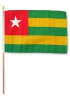 """12x18 12""""x18"""" Togo Stick Flag wood Staff"""