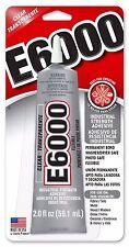 e6000 Glue Resins Metals Crystals Dolls Bails Leather Electronics 2oz USA Made
