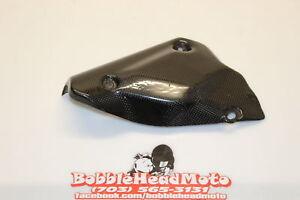 2008 Ducati 848 Cb Carbon Fiber Oem Rear Back Muffler Exhaust Pipe Cover Heat B9