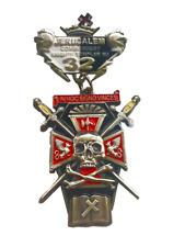 KNIGHTS TEMPLAR COMMANDERY SPUR - SKULL - JERUSALEM #32 NJ              (KT JCS)