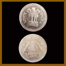India 1 Rupee Coin, 1978 Bombay Unc