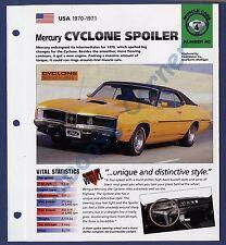 Mercury Cyclone Spoiler IMP Brochure Specs 1970-1971 Group 4, No 40
