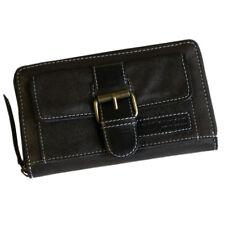 Damen Geldbörse EVITA aus schwarz-braunem Leder  - HANDMADE by LandLeder