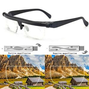 Distance Vision Eyeglasses Dial Adjustable Glasses Variable Focus For Reading US